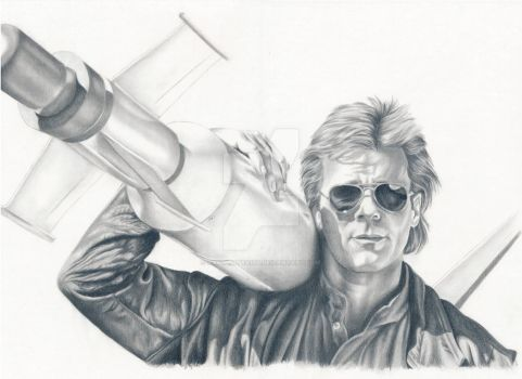 MacGyver by kad-portraits