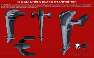 S-250 Chela-class starfighter ortho [New] by unusualsuspex