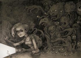 Monsters behind my back... by Rode-Egel