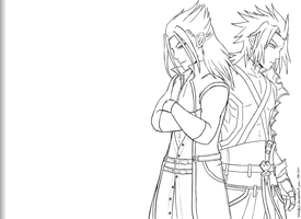 Terra and Xehanort by ssceles