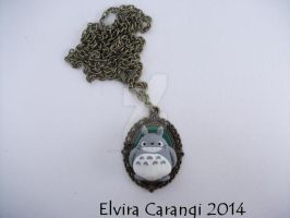 Totoro cameo necklace (available on my etsy) by elvira-creations