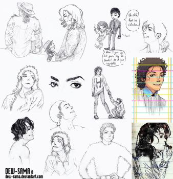 MJ Sketch Dump 3 by Dew-Sama