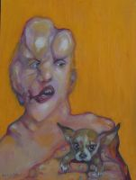 Joseph Merrick with Chihuahua by bedpan3