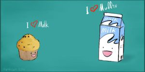 milk and muffin by evokone
