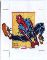 Spider Punk AP sketch card by mdavidct