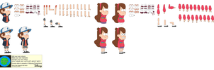 Character Builder-Dipper And Mabel Pines by Kphoria