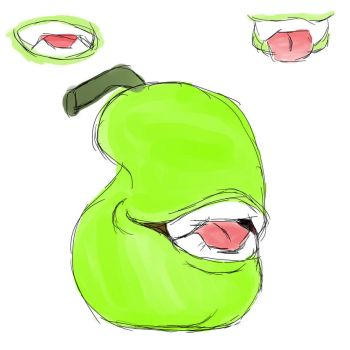 sketchy pear art by YanateKage