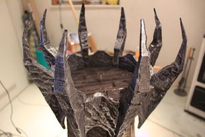 Angband tower metal crown by raoulmike