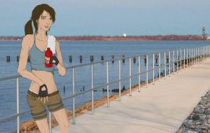 Lara Croft Works Out by Nicnikbean