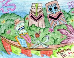 Squidward's Tiki Land by Spongefifi