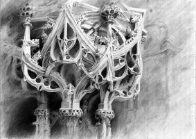 Gothic pulpit by ChemicalButterflies