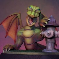 3D Dragon by cubehero