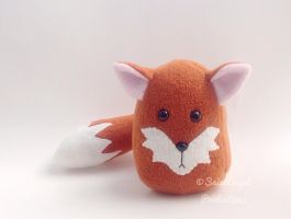 Stuffed Fox Plushie, Plush Forest Animal by Saint-Angel