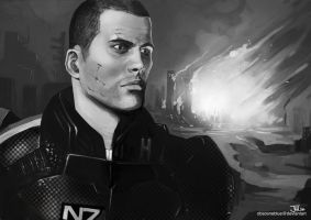 -Commander Shepard- by obsceneblue