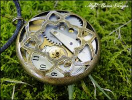 Circle Steampunk Pendant :2: by TheClockworkCrow