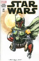 Boba Fett Star Wars Sketch Cover by nguy0699
