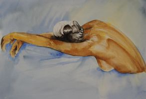 Resting - Watercolours by 6re9