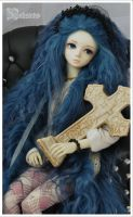 Mohair wig blue by nalisinko