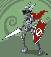 The Robotic Knight Dullahan by Rickz0r