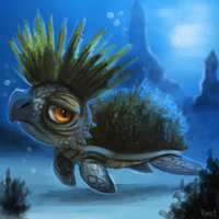 DAY 163. Mohawk Turtle (20 Minutes) by Cryptid-Creations
