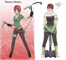 Phoenix before and after by T-Raposo