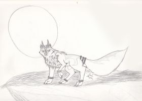 Wolf and the Moon by Rikku-Horaiji