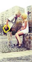 Roxas and Namine Cosplay: by YokoAyane