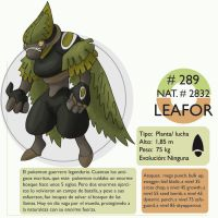 Pokemon Oryu 289 Leafor by shinyscyther