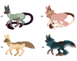 Mix Tailed Creature Adopts - Adopted by Feralx1