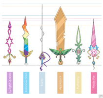 Mane Six Swords by ChocoChaoFun