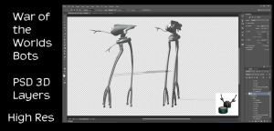 War of the Worlds Tripods by ArthurRamsey