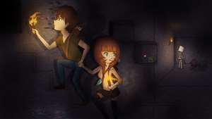 Cave exploring~ [Minecraft] by Ne-chi