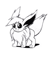Commision 4B - Eevee Sketch by GeniusRKO35