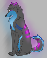 Blue/purple wolf - Points adopt by xPixe