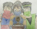Ninja Birthday (coloured) by TheAngelicBliss