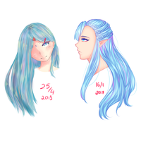 Hair after a year by Kawaii-SoupBowl