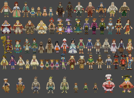 FF9 human NPC pack by Lopieloo