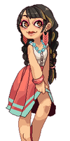 pixel commish : Lengthyy by Muleyo