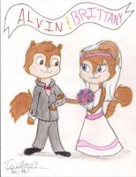 Alvin and Brittany Request by Turtlegirl5