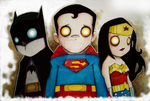 Batman, Superman,Wonder Woman by UMINGA