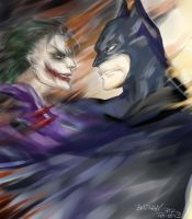 HELL      Bat and Joker by PYdiyudie