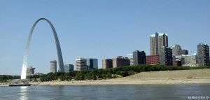 The Arch and Downtown St. Louis Riverfront by marmicminipark