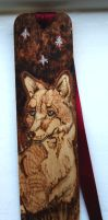 Pyrography Fox Bookmark by BumbleBeeFairy