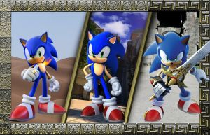 Triple Hedgehog Wallpaper by MP-SONIC