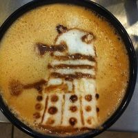 Dalek Latte by Coffee-Katie