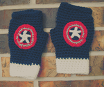 Captain America Inspired Fingerless Gloves by justchasingcars