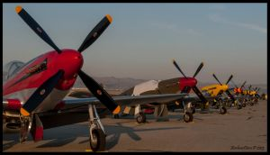 Flight Line Sunrise by AirshowDave