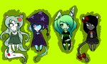 female halloween adopts 2 MORE OPEN by madam-top-hat