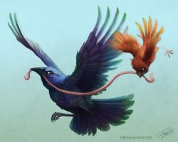 The Common Grackle by Ruth-Tay