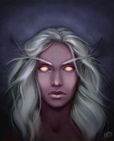 Night Elf Warcraft - Portrait by NaamahVonhell